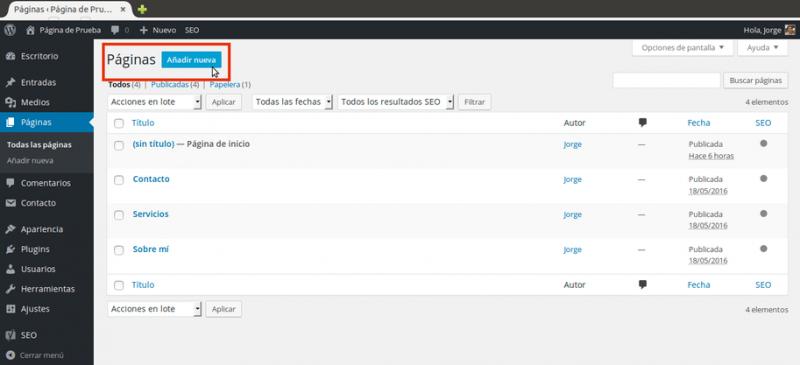 Página de inicio personalizada en WordPress: Aquí las instrucciones