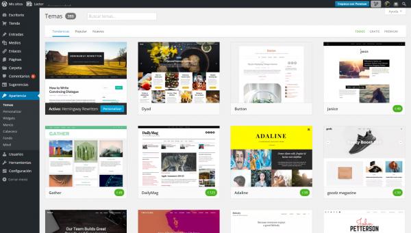 Temas-wordpress - El blog de las Páginas Webs