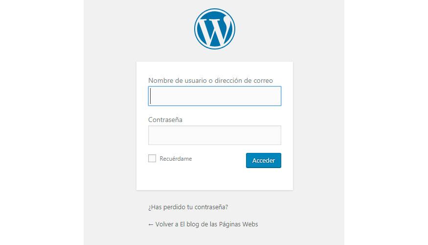Ocultar pantalla de inicio en wordpress