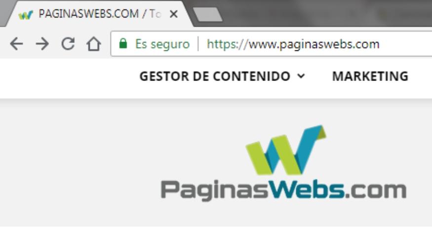 Verifica en la url el HTTPS