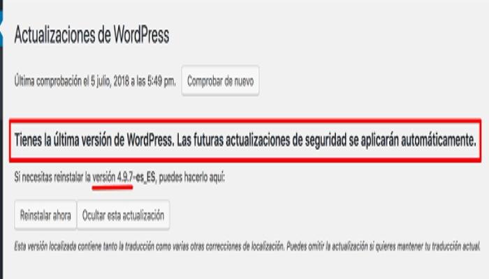 Principales novedades en WordPress 4.9.7