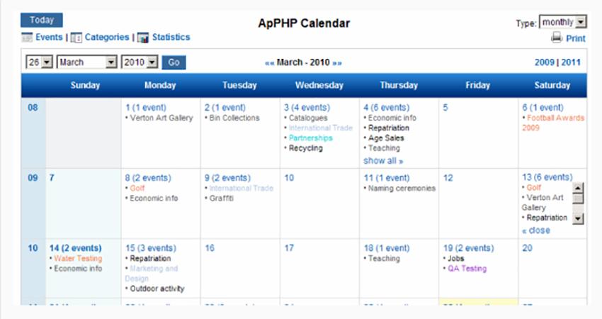 Top 3 mejores scripts PHP para calendario, reservaciones y eventos