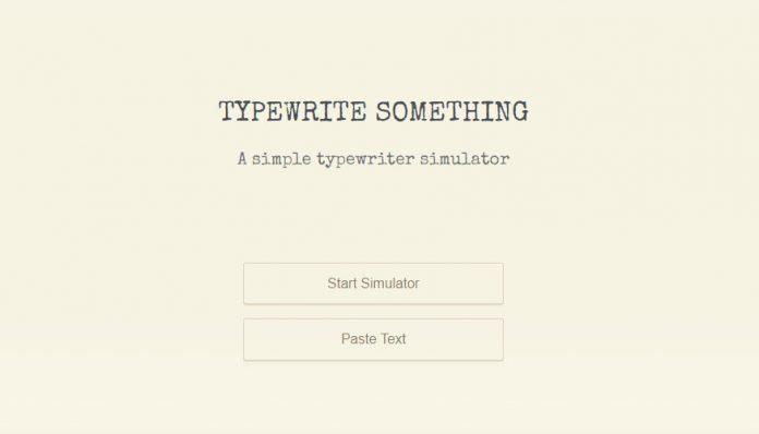 Typewrite Something