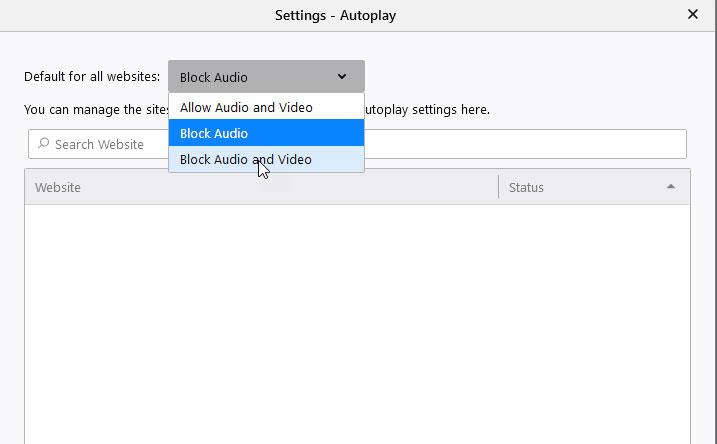 bloquear audio
