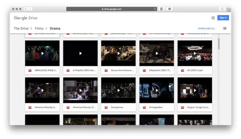 descargar películas desde google drive