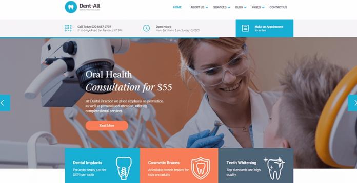 plantillas de wordpress para clínicas dentales