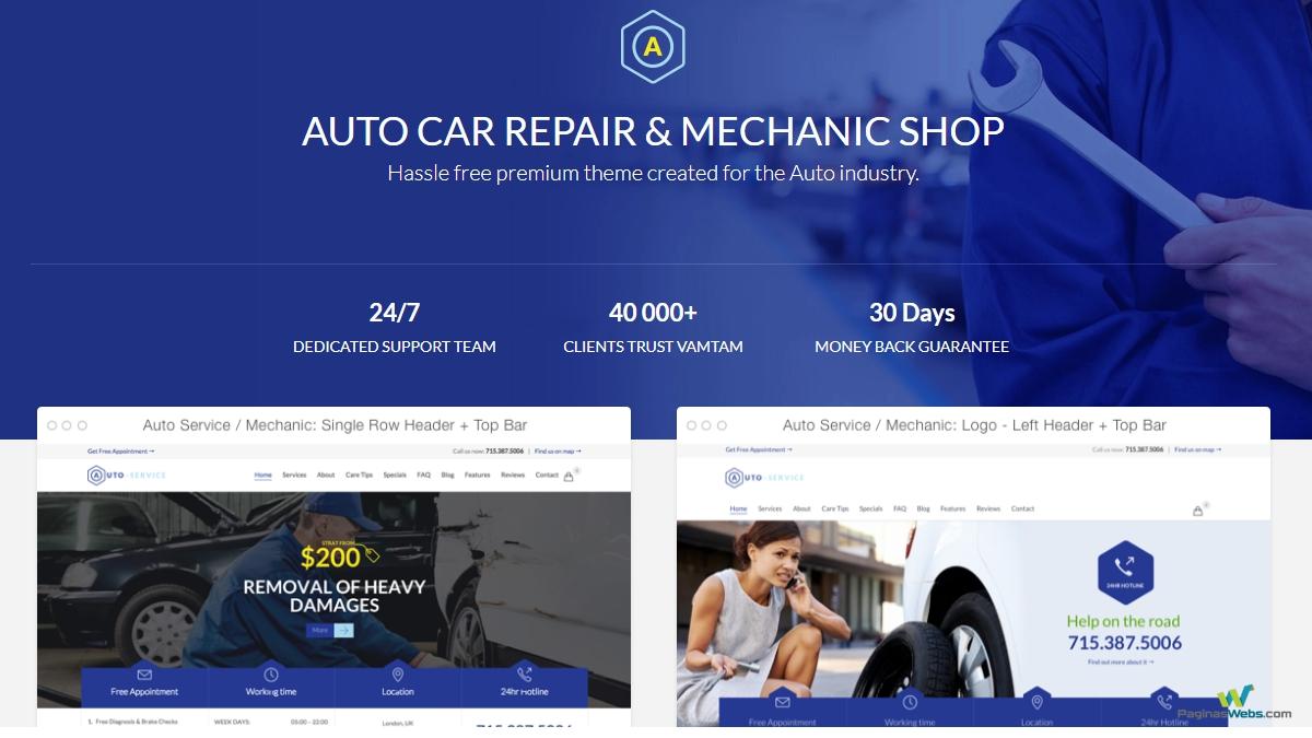 auto repair plantilla para autos